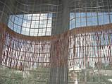 Тюль до подоконника Клетка беж, фото 2