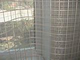 Тюль до подоконника Клетка беж, фото 4