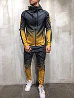 Мужской спортивный костюм Black/Yellow Люкс качество