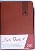 """Блокнот 2905-25K """"Однотонный классический"""", 100листов кож.зам 14,5х21,5см синий, коричневый (клетка) уп10"""