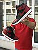 Кросівки чоловічі в стилі Nike Air Jordan 1 Retro High OG чорні з червоним    ТОП якість, фото 2