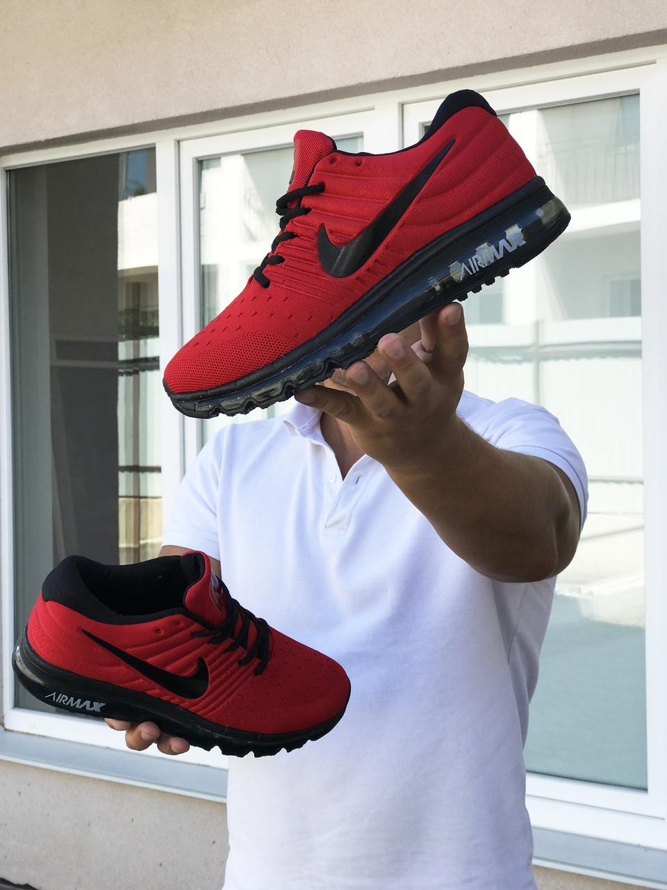 Кросівки чоловічі в стилі  Nike Air Max 2017  червоні  ТОП якість