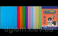 Бумага А4 цветная PASTEL+INTENSIVE 10цветов, 20л, 80г/м2
