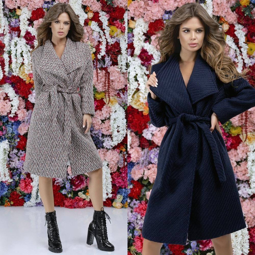 Пальто женское букле на подкладке, удлиненное, с карманами, под пояс, стильное, эффектное