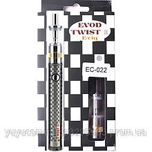 Электронная сигарета с регулятором мощности 1600mah EVOD Twist 3 Silver Aerotank M16 Micro USB