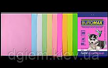 Бумага А4 цветная PASTEL+NEON 10цветов, 20л, 80г/м2