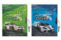 """Блокнот на замочке A6 4008 """"Sport Car"""", обложка с глитером 60листов 70г/м2 уп12"""