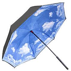 Зонт Up-Brella Блакитне небо подвійне складання антизонт жіночий вітрозахист розумний парасолька зворотне складання