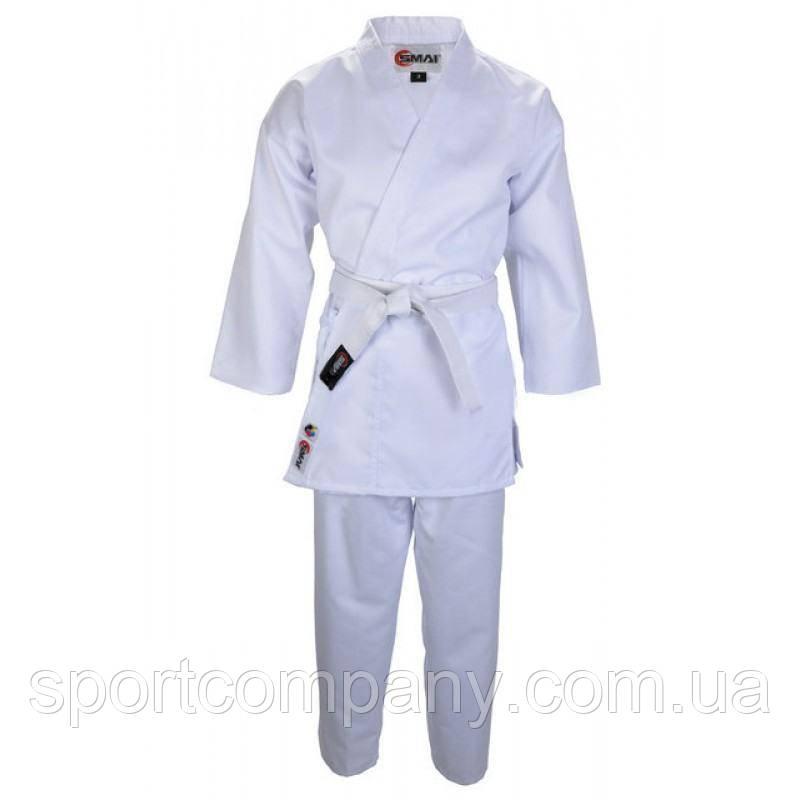 Кимоно для каратэ Smai Karate Economy GIN с аккредитацией WKF белое