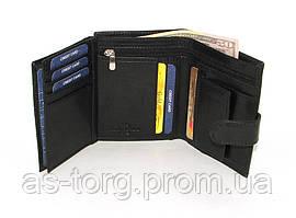 Шкіряний гаманець чоловічий Buffalo чорний