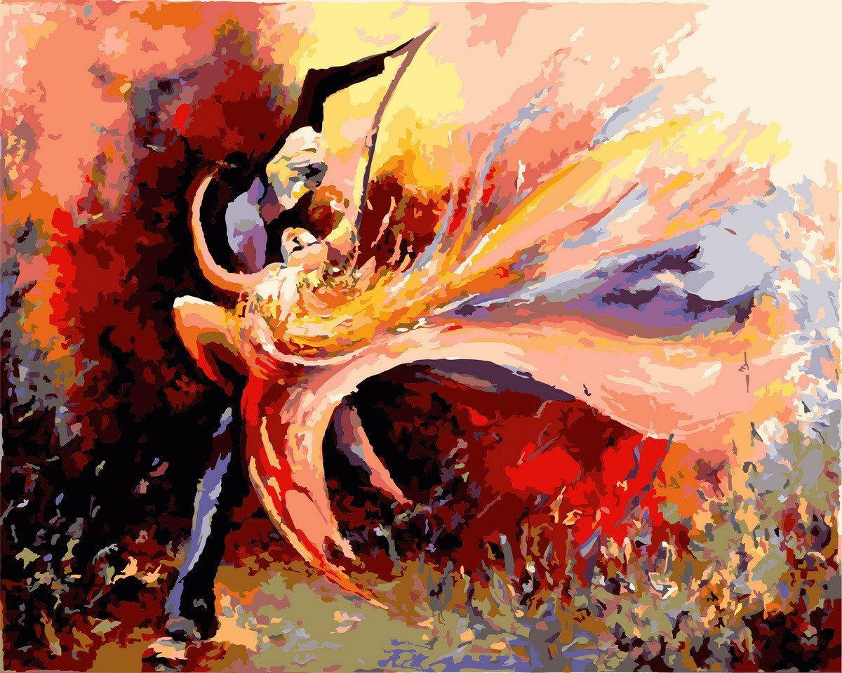 Картины по номерам Страстный танец BK-GX8264 Rainbow Art 40 х 50 см (без коробки)
