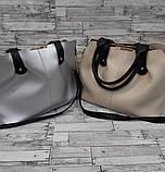 Стильна Жіноча сумка з еко-шкіри. В кольорах., фото 3