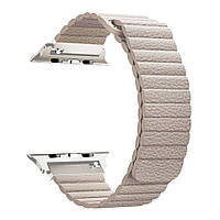 Ремешок для спортивных часов Apple Leather Loop Band for Apple Watch 38mm/40mm Beige, фото 1