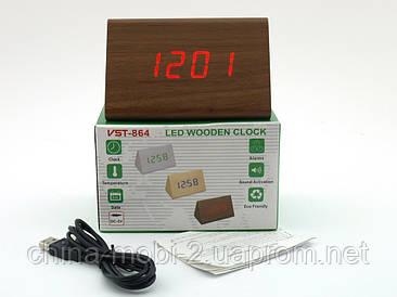 VST-864 Годинники настільні цифрові з будильником, датою і термометром