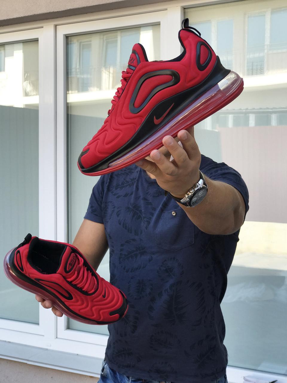 Кросівки чоловічі в стилі  Nike Air Max 720 червоні  ТОП якість