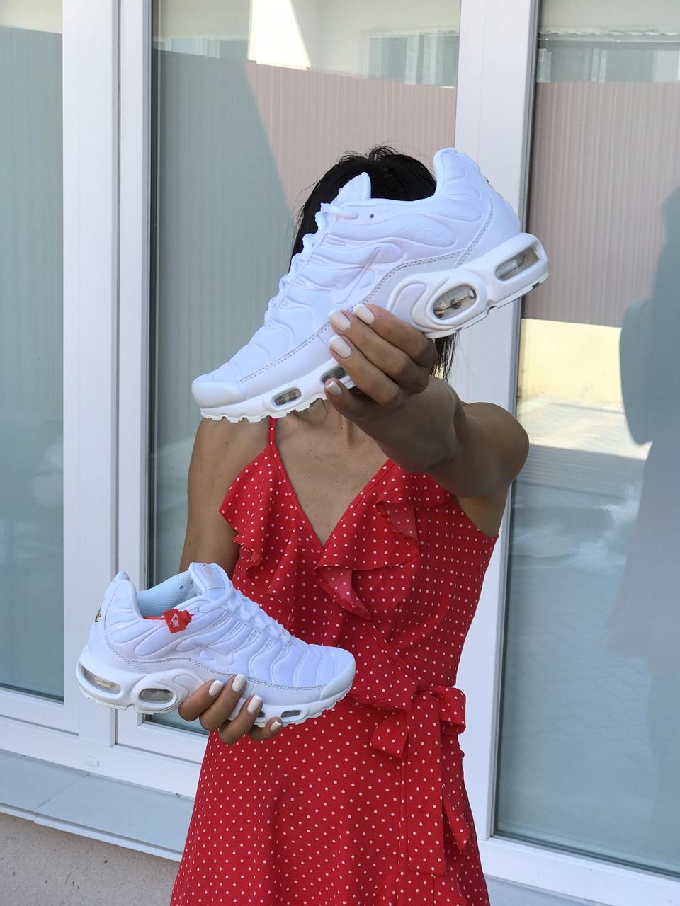 Кросівки жіночі  в стилі Nike Air Max Tn  білі  (ТОП ЯКІСТЬ)