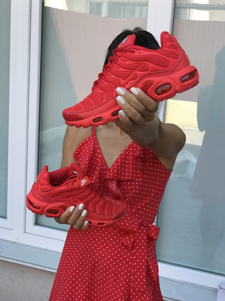 Кросівки жіночі  в стилі Nike Air Max Tn  червоні  (ТОП ЯКІСТЬ)