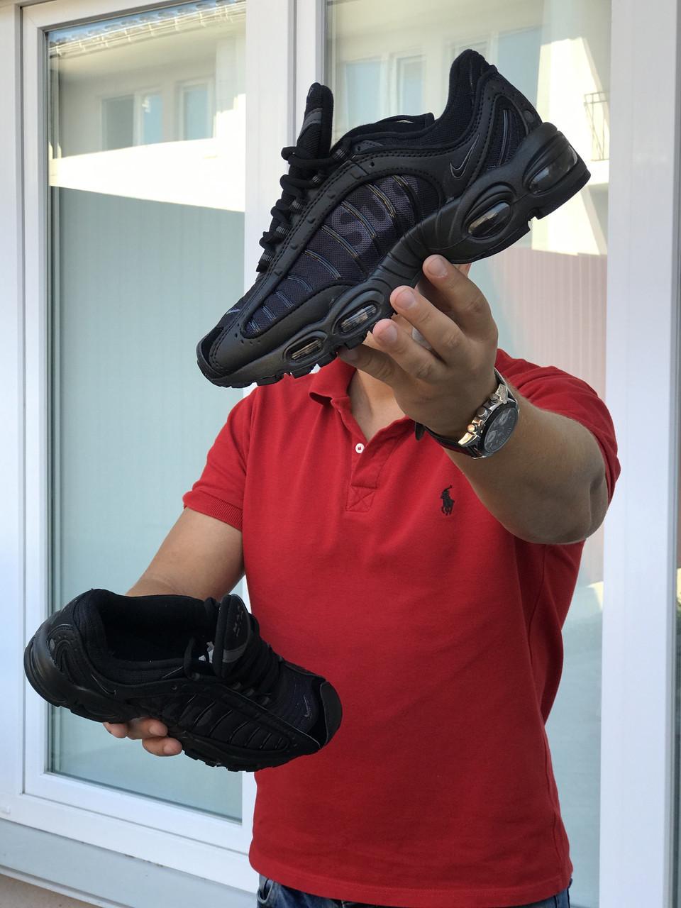 Кросівки чоловічі в стилі  Nike Supreme  чорні  ТОП якість