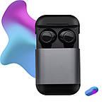 Wi-pods S7 Bluetooth 5.0 наушники беспроводные водонепроницаемые с зарядным чехлом-кейсом. Металлик Оригинал, фото 2