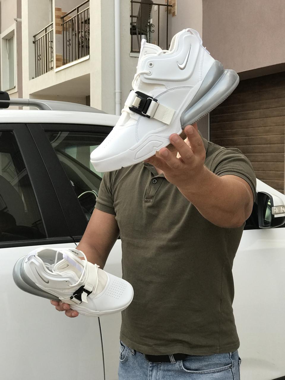 Кросівки чоловічі в стилі  Nike Air Force 270 білі    ТОП якість