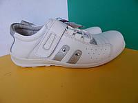 Подростковые кожаные туфли-кроссовки р.36