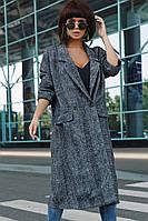 """Свободное кашемировое женское пальто """"Loreta"""" в клетку (2 цвета)"""