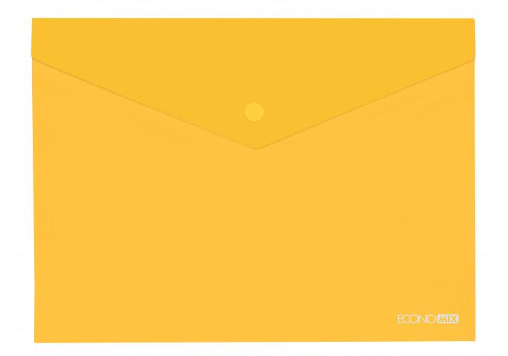 Папка-конверт А4 полупрозрачная желтая