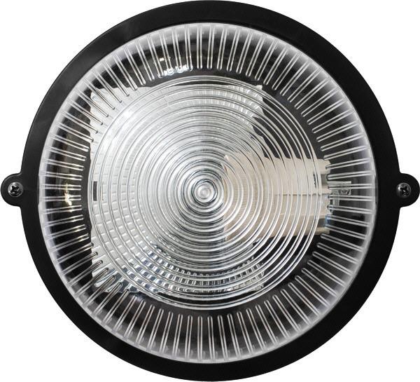 Світильник ЖКГ LED НВП-65 ПП-1002-10-0/6 коло чорний прозорий плафон 12W 1200Lm 6000К IP65