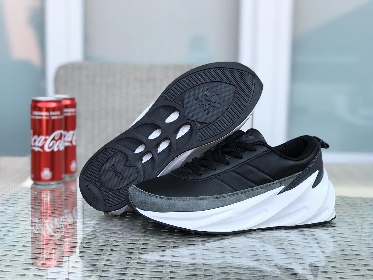 Кросівки чоловічі в стилі  Adidas Sharks  чорно сірі з білим  ТОП якість