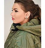 Привлекательная женская стеганная куртка батал, фото 2