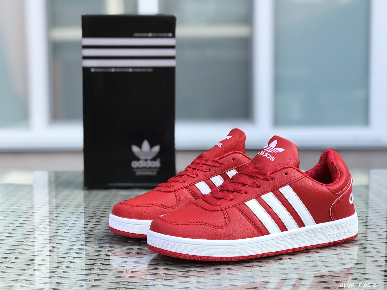 Кросівки чоловічі в стилі Adidas La marque   червоні  ТОП якість