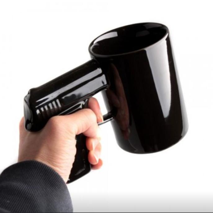 Podarki Чашка пистолет Черная top-784