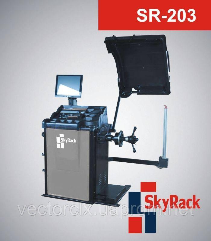 Автоматический балансировочный стенд SR-203 для обслуживания колес легковых автомобилей, микроавтобусов и мотоциклов