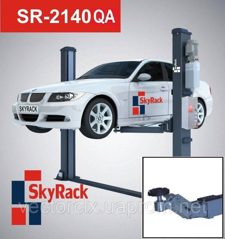 Автомобильный двухстоечный электрогидравлический подъемник с быстрыми захватами «QUICK ARM» SR-2140QA