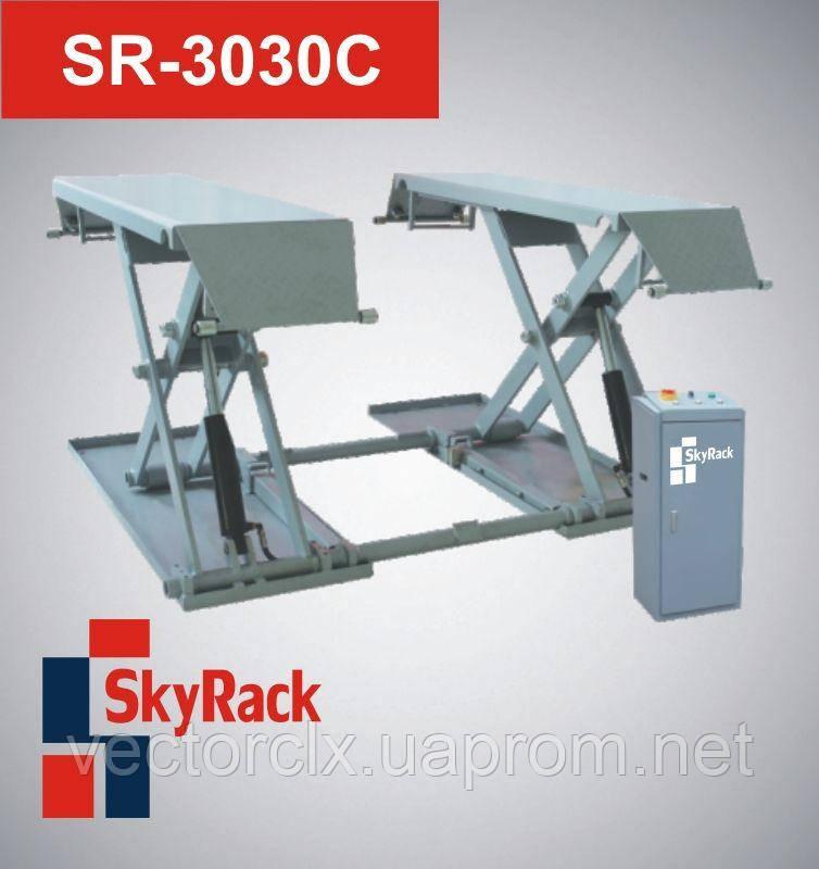 Автомобильный ножничный электрогидравлический подъёмник (передвижной)  SR-3030C