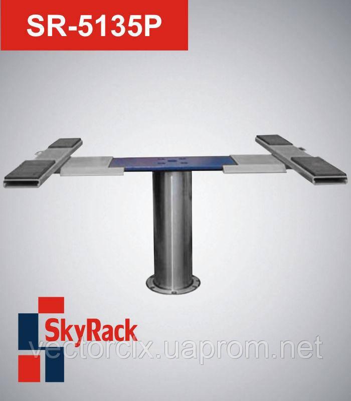 Автомобильный одностоечный плунжерный пневмогидравлический подъемник  SR-5135P