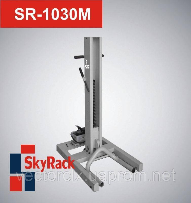 Автомобильный одностоечный подкатной пневмогидравлический подъемник  SR-1030M