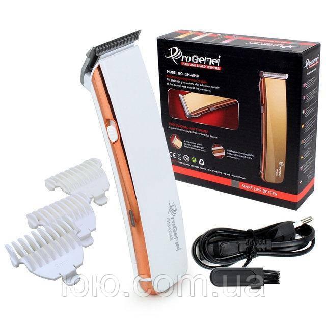 Аккумуляторная машинка для стрижки волос Gemei GM-6048