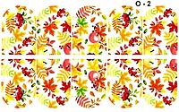 Водные наклейки (слайдер дизайн) для ногтейO-2