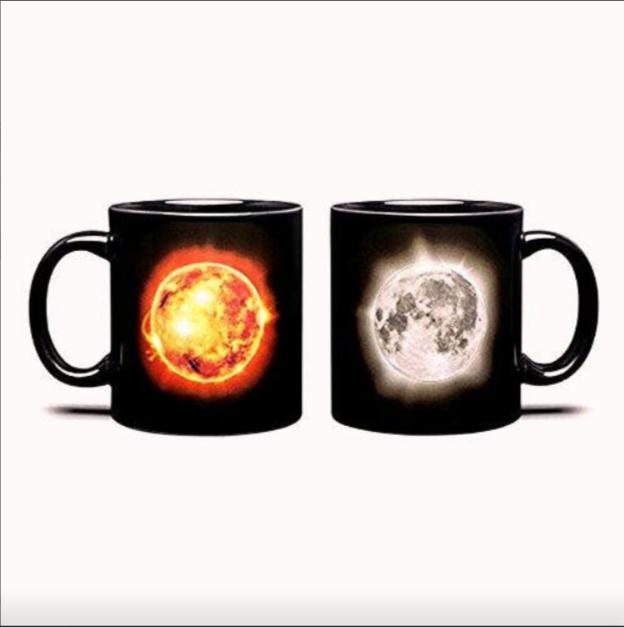 Чашка-хамелеон керамическая (1шт) 250 мл Солнечное затение top-775