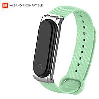 Ремешок для спортивного браслета ArmorStandart Carbon Silicone Band for Xiaomi Mi Band 4/3 Mint