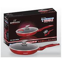 Сковорода литая мраморная 20х5см + крышка Bohmann BH 1009-20 MRB