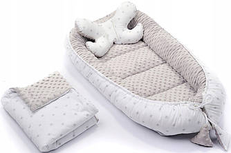 """""""кокон - гнездышко"""" MINKY INFANTILO  + подушка + одеяло"""