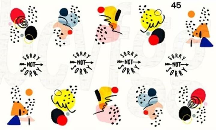 Водные наклейки (слайдер дизайн) для ногтей 45