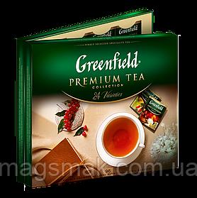 Чайный набор Гринфилд Ассорти 96 пакетиков , 24 ВИДА*4 ШТ