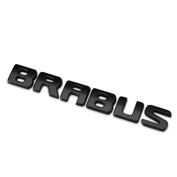 Матовая Эмблема Шильдик надпись Brabus Брабус Мерседес Mercedes