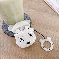 Чехол футляр для наушников AirPods Мишка Bear Brick + брелок силиконовый