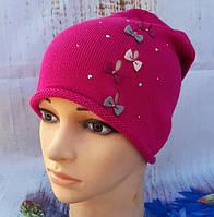 Демисезонная детская шапка для девочки Perfect (Польша)