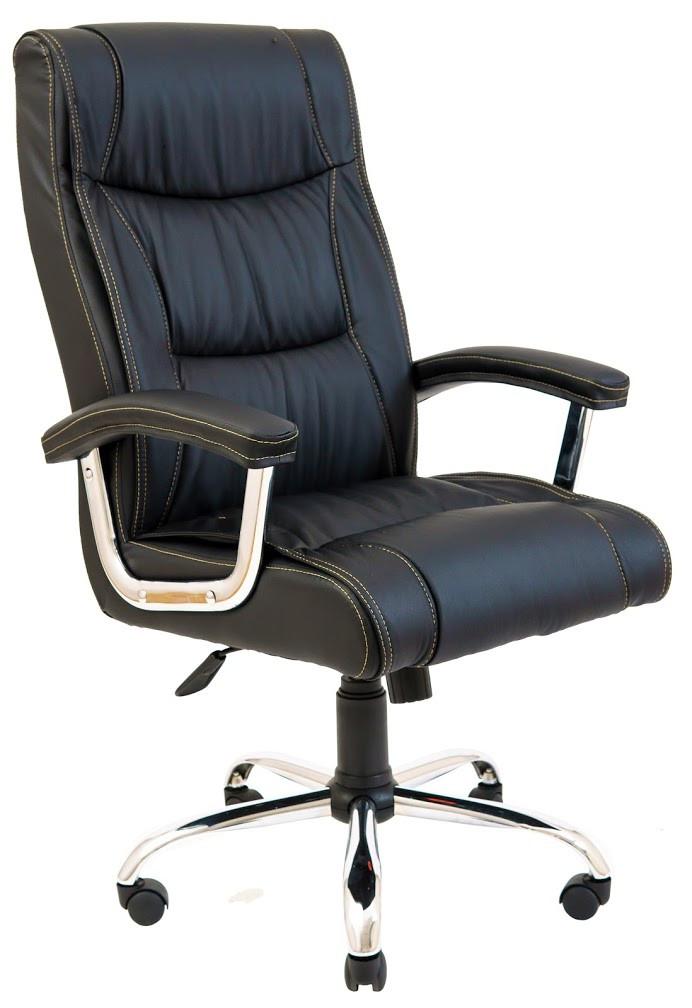 Кресло Майями хром 1 кат черное