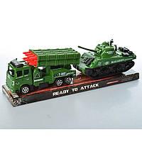 Военная техника инерционная, 2шт/упак., танк, миномет, K188-6A